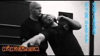 Knife low cross block | Bill Wolfe | Wolfes Combatives | Defendo