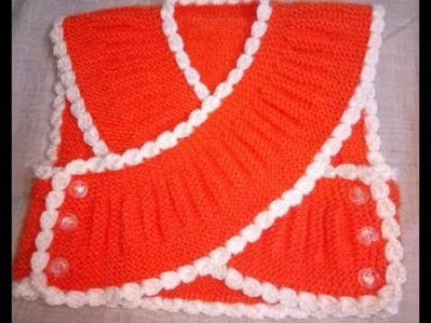 Easy Knitting Bolero/shrug/jacket For 1-2 Year Kids| Hindi
