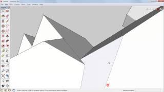 Расчёт площади крыши дома в SketchUp