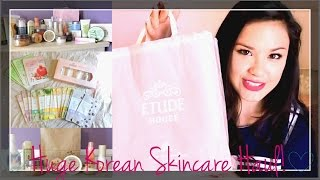 Pt. 1 HUGE Korean Skincare Haul ♥ Etude House, Skin Food, Innisfree, Holika Holika and more!