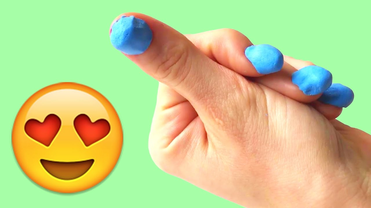 💅 DIY Play Doh Nails - How to make fake nails with playdough - YouTube