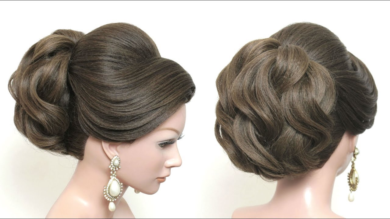 Beautiful Bridal Hairstyle For Long Hair: New Beautiful Hairstyle For Long Hair. Bridal Updo