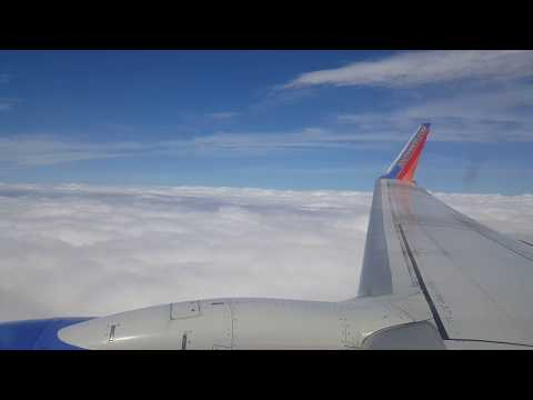 Southwest Airlines landing in Dallas Love Field Airport