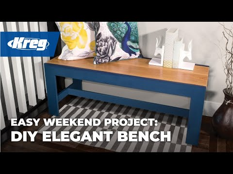 Kreg® Project Building Basics: Easy, Elegant Bench