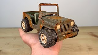 Rusty Tonka Jeep Restoration - Military Jeep