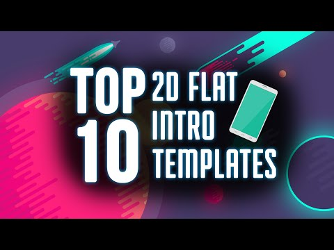 Top 10 FREE 2D Flat Intro Templates of 2015-2016 After Effects, Blender, and Camtasia[January 2016]