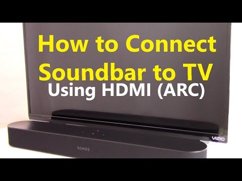 How To Connect Soundbar To TV Using HDMI ARC