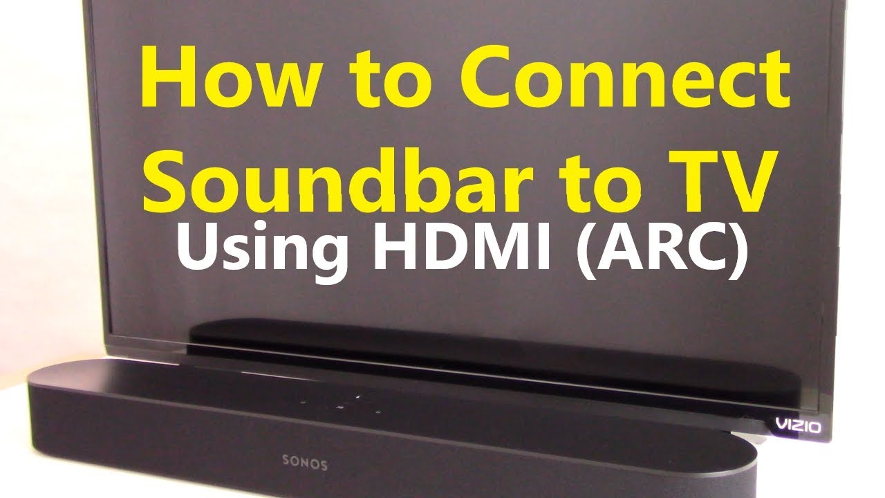 [DIAGRAM_4FR]  How to Connect Soundbar to TV using HDMI ARC - YouTube | Vizio Sound Bar Wiring Diagram |  | YouTube