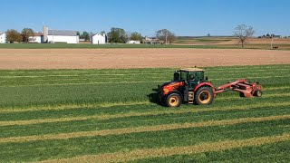 Mowing Triticale with Versatile Nemesis 210