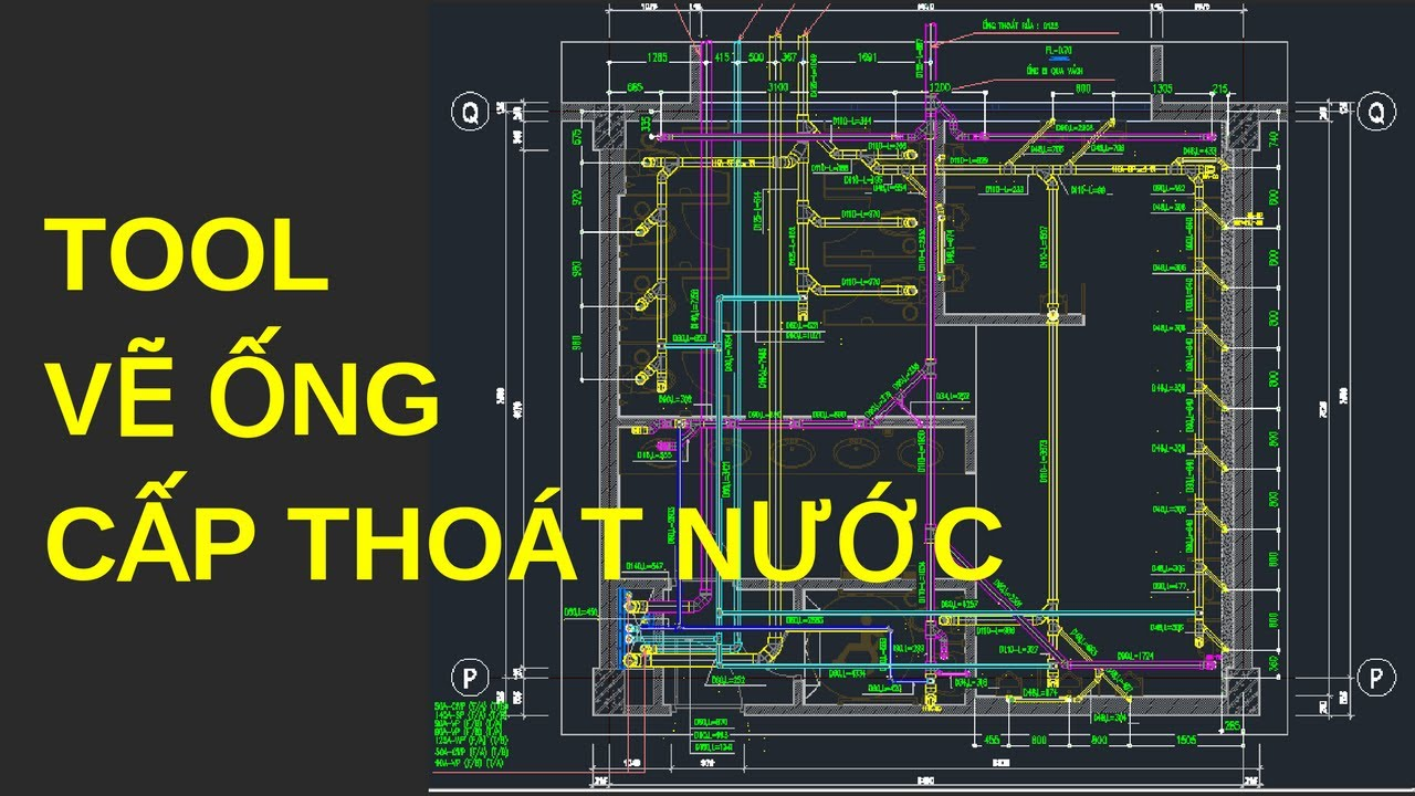 Hướng dẫn sử dụng Tool vẽ ống cấp thoát nước – Bài 7 – Khóa học shop drawing cho kỹ sư cơ điện