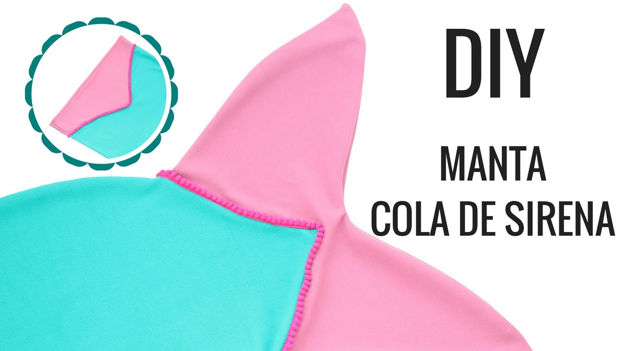 Manta COLA DE SIRENA DIY - YouTube
