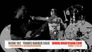 RARE - BLINK 182 - TRAVIS BARKER - DRUM SOLO!!!! Blink182