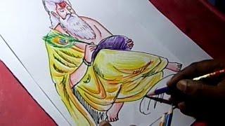 How to Draw Adhi Guru Vyasa Maharshi Drawing