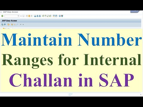 How To Maintain Number Ranges For Internal Challan In SAP
