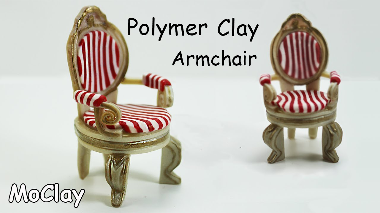 How to make a armchair miniature - Furniture tutorial ...