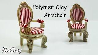 How to make a armchair miniature - Furniture tutorial