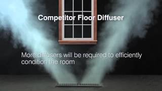 Hart & Cooley Floor Diffuser Smoke Test