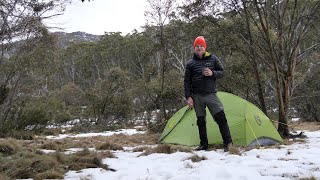 Solo overnight hike to a wild Australian mountain valley