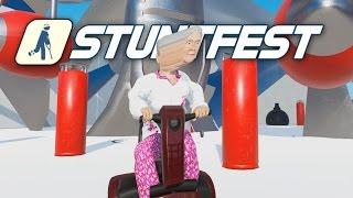 Stuntfest - Grandma Gone Wild! - Ragdoll Physics Meets Wreckfest! Stunt Fest Gameplay