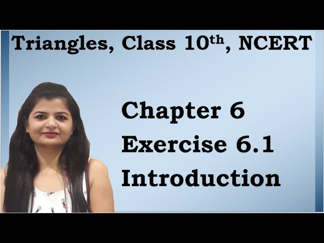 Triangles | Chapter 6 Ex 6.1 Introduction | NCERT | Maths Class 10th
