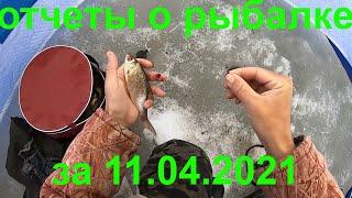 зимняя рыбалка отчеты о рыбалке за 11 04 2021