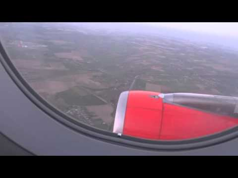 easyJet Airbus A319 landing at Lille-Lesquin Airport
