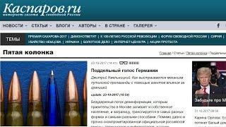 Ложь о проекте Голос Германии на сайте российских либералов kasparov.ru
