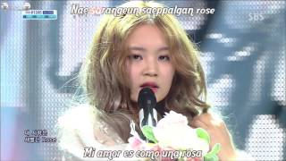 Lee Hi ft CL - Rose (karaoke + sub español)