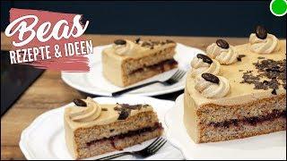 Kaffee- Mandel Torte ohne Mehl - Buttercreme