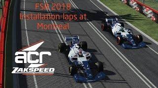 rFactor 2 NEW BUILD - Formula SimRacing ACR Zakspeed car at Montreal - Installation Laps