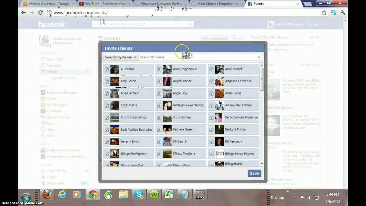Facebook Java Code Update Invite All Friends To Facebook Event