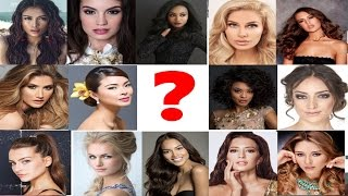 Miss Universe 2016/2017 in Photogenic Entry Contestants