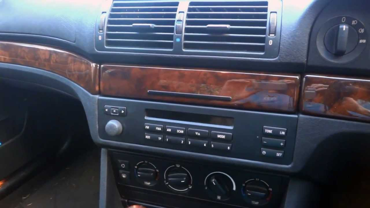 bmw e39 5 series how to remove radio youtube. Black Bedroom Furniture Sets. Home Design Ideas