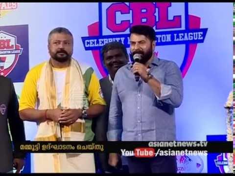 Superstar Mammootty Inaugurates Celebrity Badminton League At Kochi