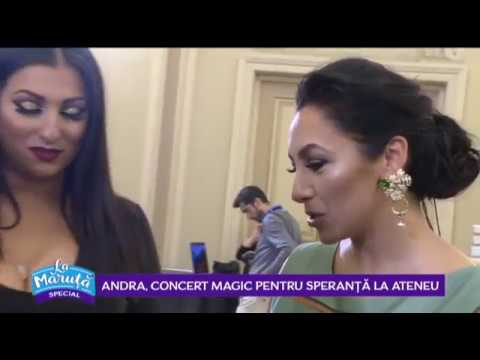 Andra, concert magic pentru speranta la Ateneul Roman