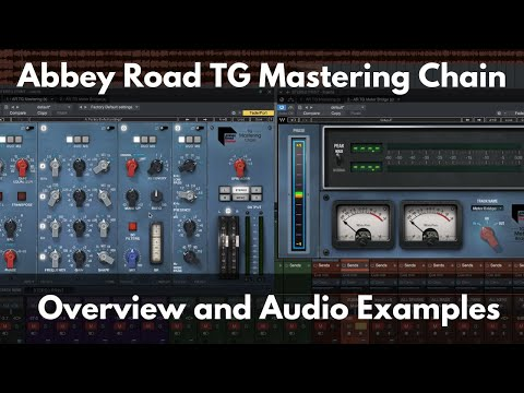 Waves Abbey Road Tg Mastering Chain Overview And Audio Examples Youtube