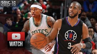 Chris Paul vs Isaiah Thomas PG DUEL Highlights (2016.02.10) Celtics vs Clippers - AMAZING!
