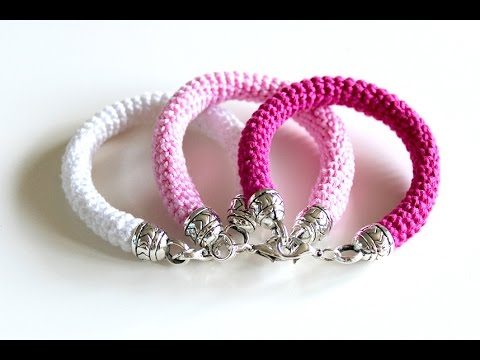 How To Crochet A Bracelet Free Crochet Pattern Youtube