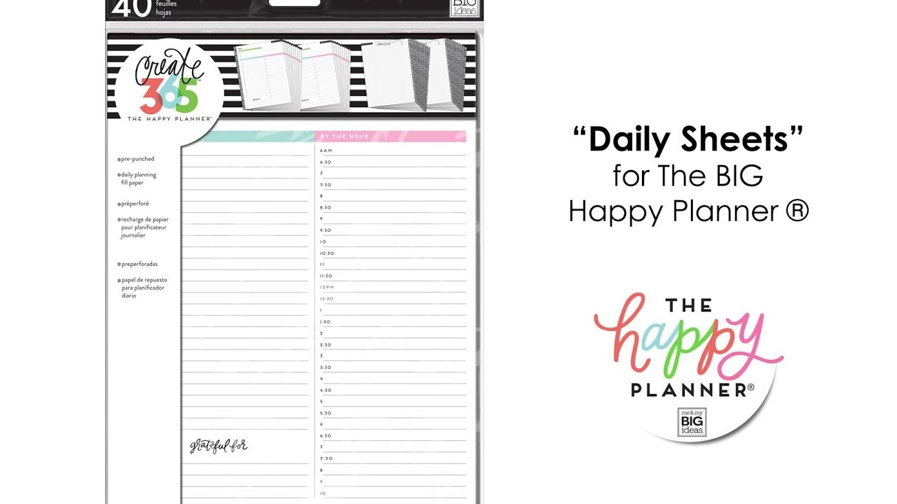 "photograph relating to Daily Sheets identify Every day Sheets - Delighted Plannerâ""¢ Preview- Massive"