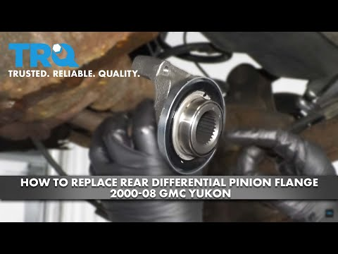 How to Replace Rear Differential Pinion Flange 2000-08 GMC Yukon