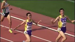 群馬県高校総体陸上2018 男子1500m決勝