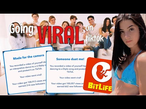 How To Go Viral On Tiktok In Bitlife Tutorial Youtube
