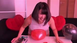 うさまりあ   おっぱいで風船爆破チャレンジ!! うさまりあ 検索動画 18