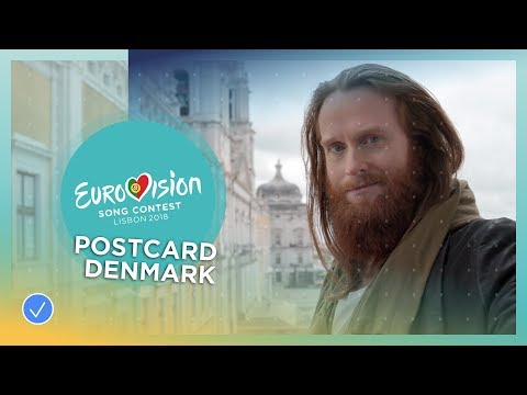 Postcard of Rasmussen from Denmark - Eurovision 2018