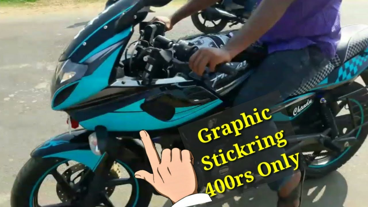 Stickering to pulsar 220cc bike remodelling old bikes awesome bike stickers neelu arts