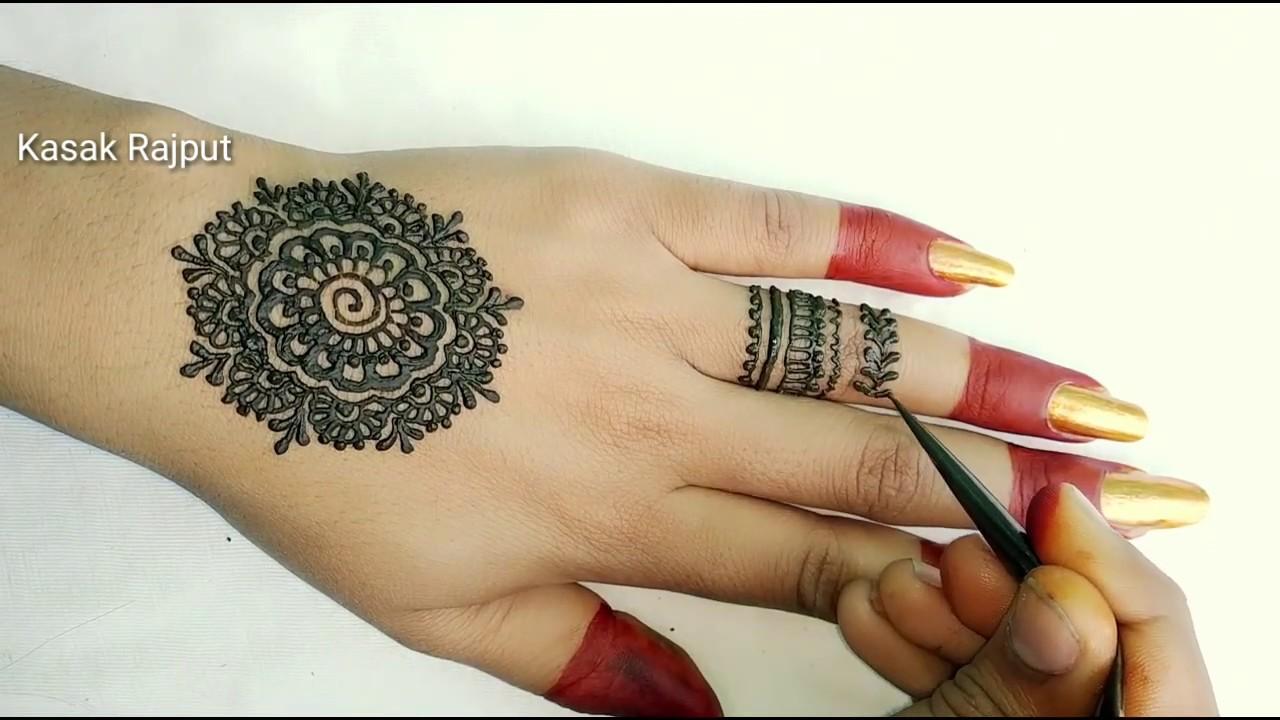 easy mehndi designs for back hand side