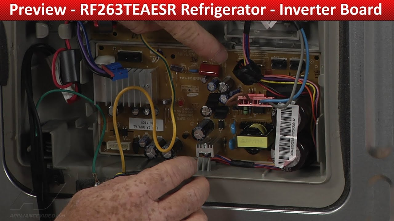inverter board rf263teaesr samsung refrigerator youtube