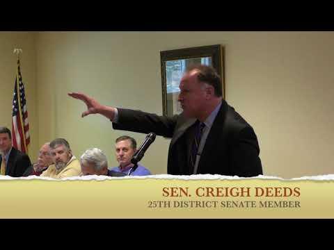 "Sen. Deeds Addresses ""State Of The Community Breakfast"" Crowd In Lexington"