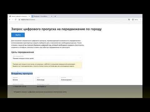 ВИДЕОИНСТРУКЦИЯ: пропуск через Nedoma.mos.ru