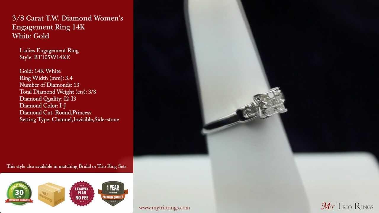 8 Carat Tw Diamond Women's Engagement Ring 14k White Gold  (bt105w14ke)